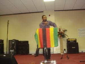 """It is a Zimbabwean flag and not a Zanu flag"", one speaker said."