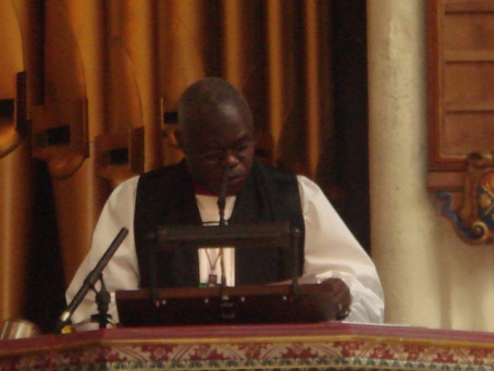 aRCHIBISHOP jOHN sENTAMU, ONE OF THE DARING ONES WHO LIKE MANDELA ADDED HIS VOICE TO THE ANTI-MUGABE CAMPAIGNS