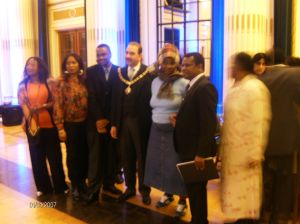 What a day to remember! R-L: Irene mswelanto, innocent, debra Shamuyarira, Lord mayor Khan