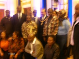 Some of the guests at the function