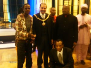 Standing:Tapiwa Chirawu, Lord Mayor Khan, Francis Mutero and Amdani Juma. Kneeling: Mr Samuriwo